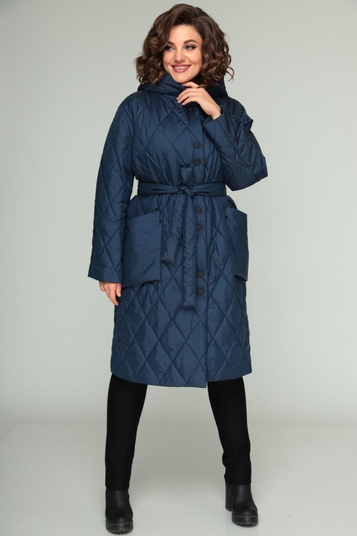 Пальто BonnaImage 658 синий