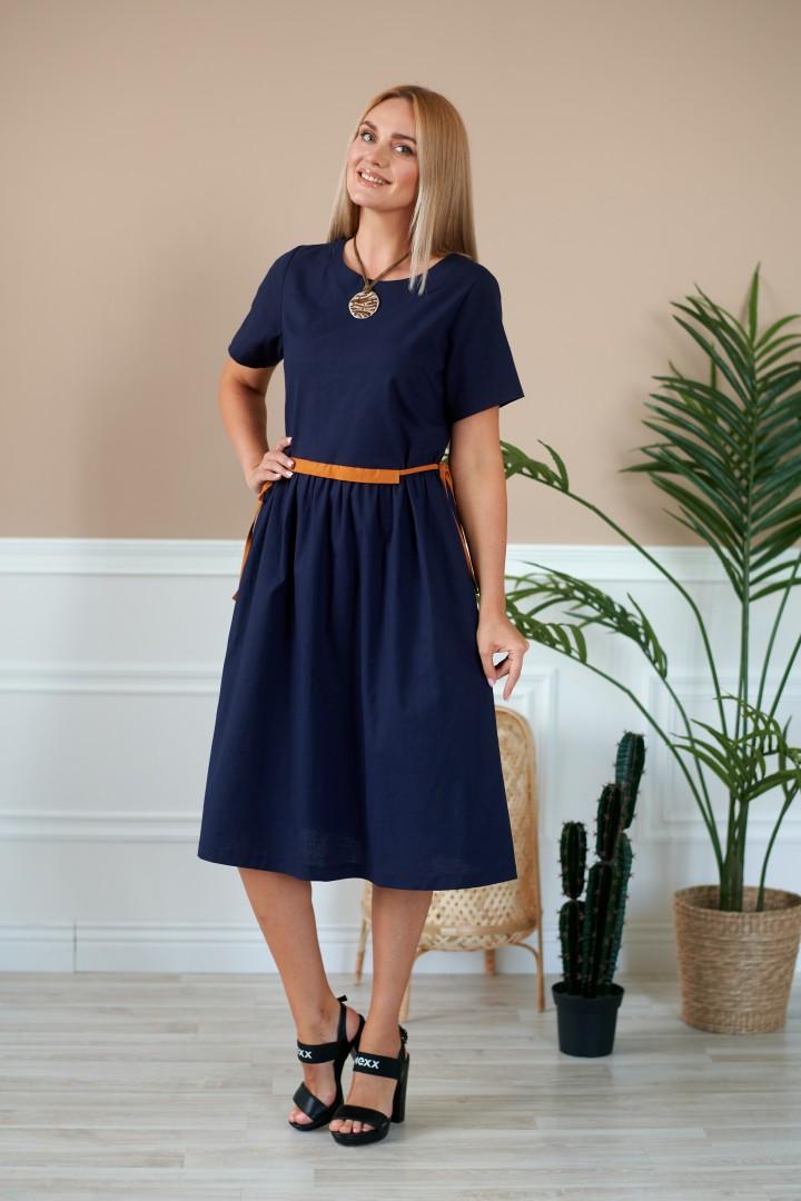 Платье Данаида 2041  темно-синий