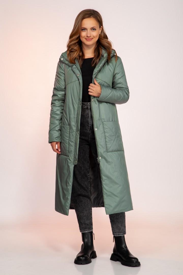 Пальто DilanaVIP 1750 бирюза