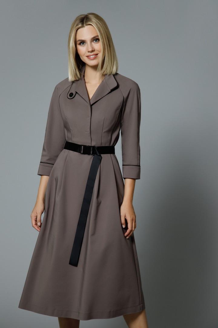 Платье DiLiaFashion 0546 бежевый