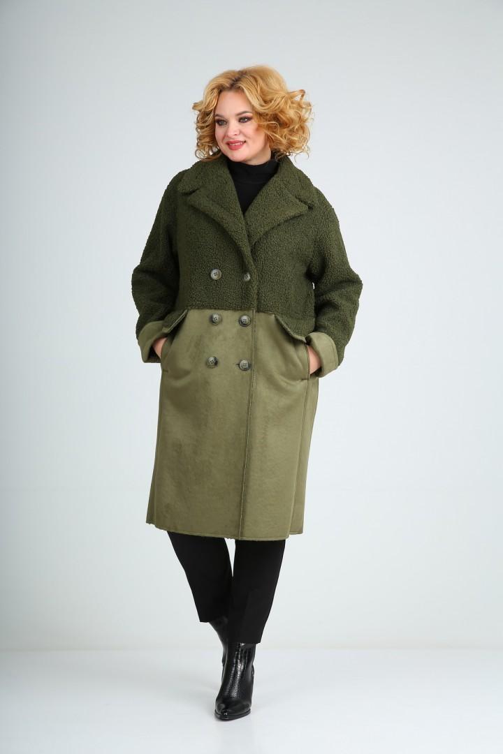 Пальто Diomant 1732 олива