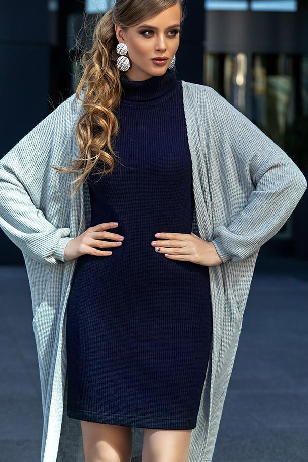 Костюм Дива 1339 серый+синий