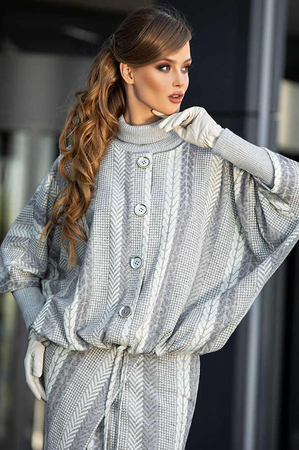 Куртка Дива 1347-1 серый