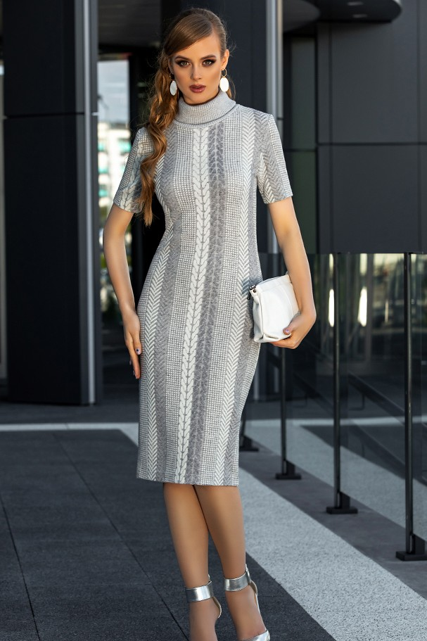 Платье Дива 1350-1 серый