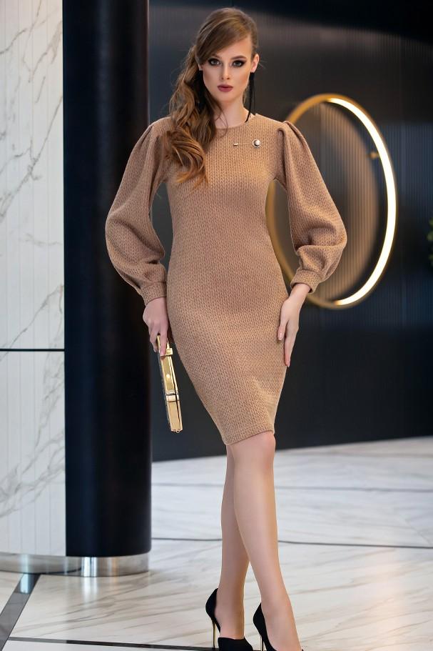Платье Дива 1357-2 коричневый