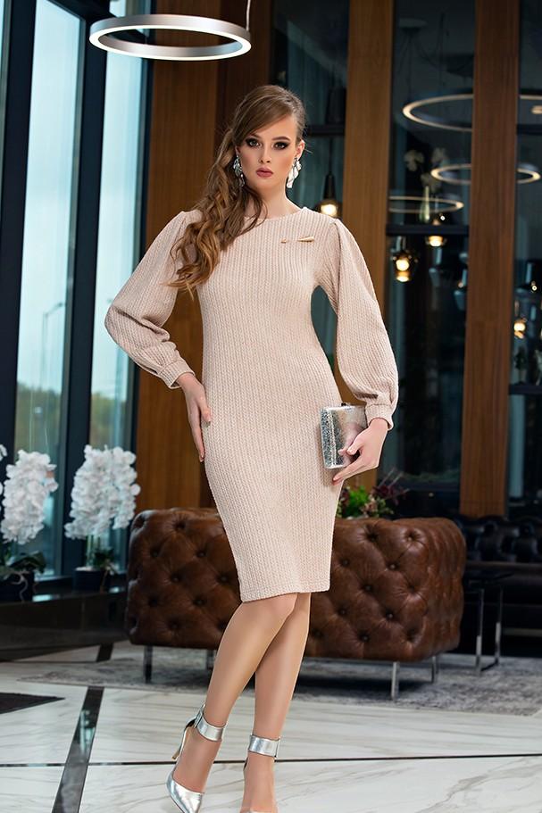 Платье Дива 1357-4 бежевый