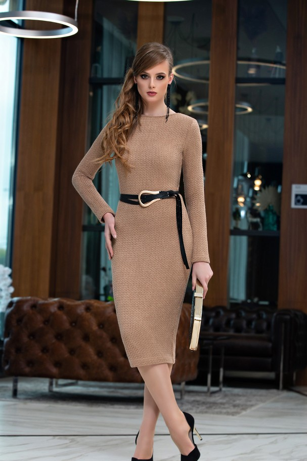 Платье Дива 1358-3 коричневый