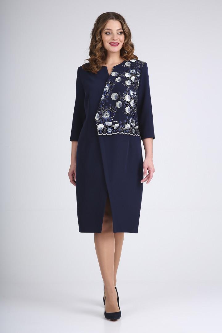 Платье Elga 01-722 синий с синим