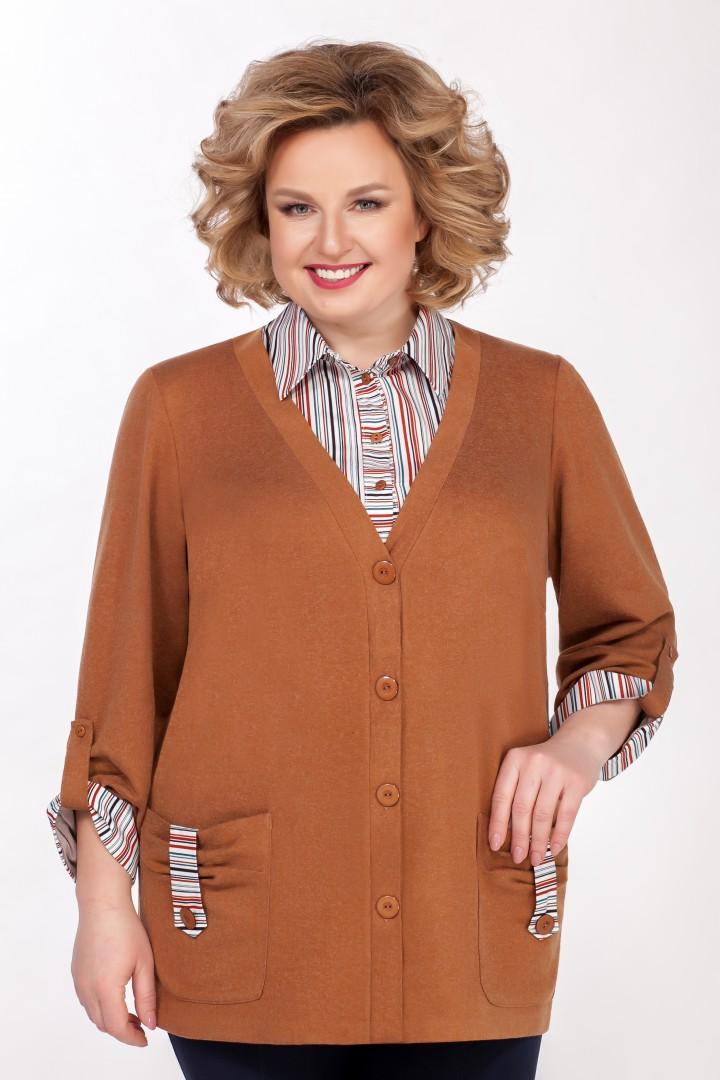 Рубашка EMILIA STYLE А-541/3 охра