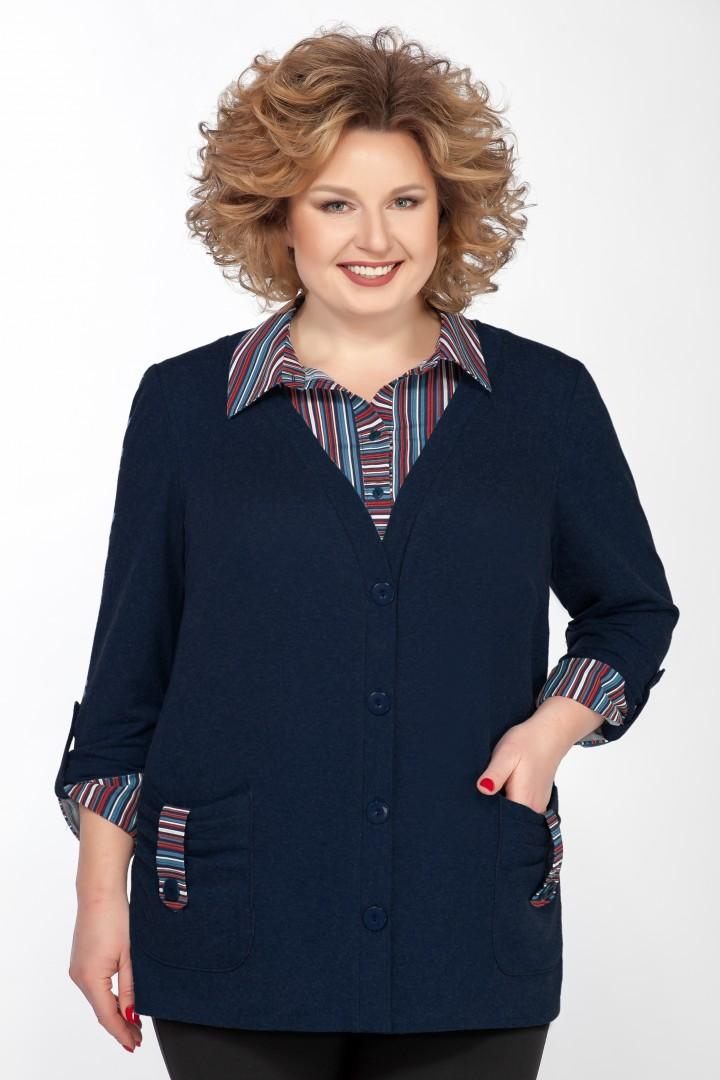 Рубашка EMILIA STYLE А-541/6 темно-синий