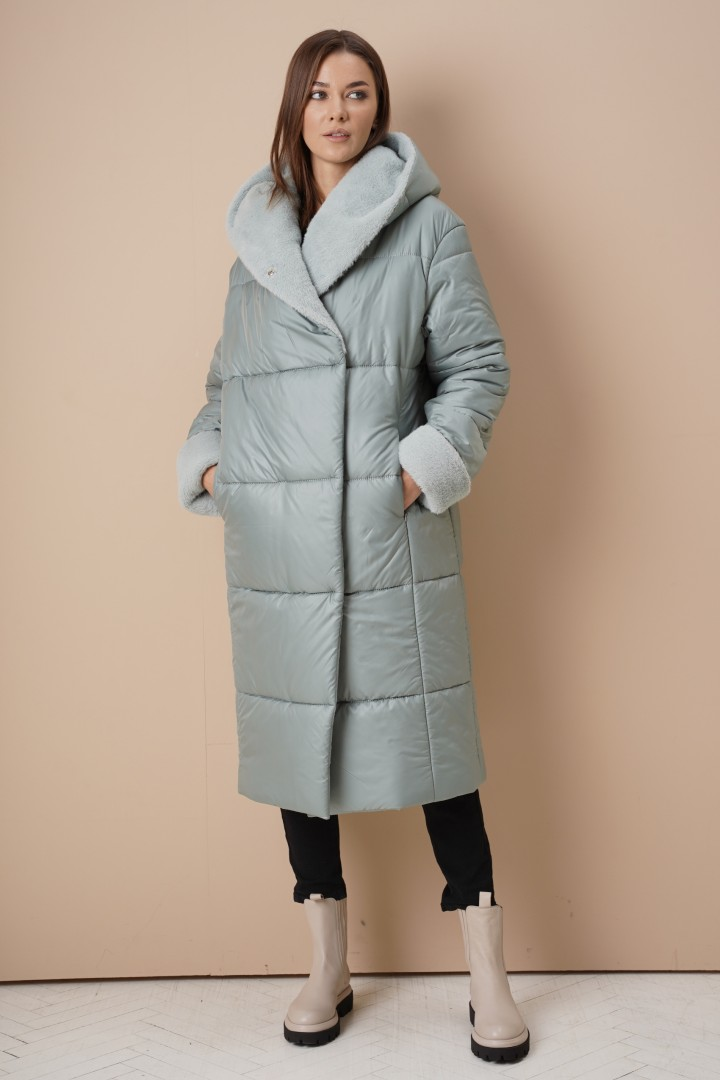 Пальто Фантазия Мод 4045 мята