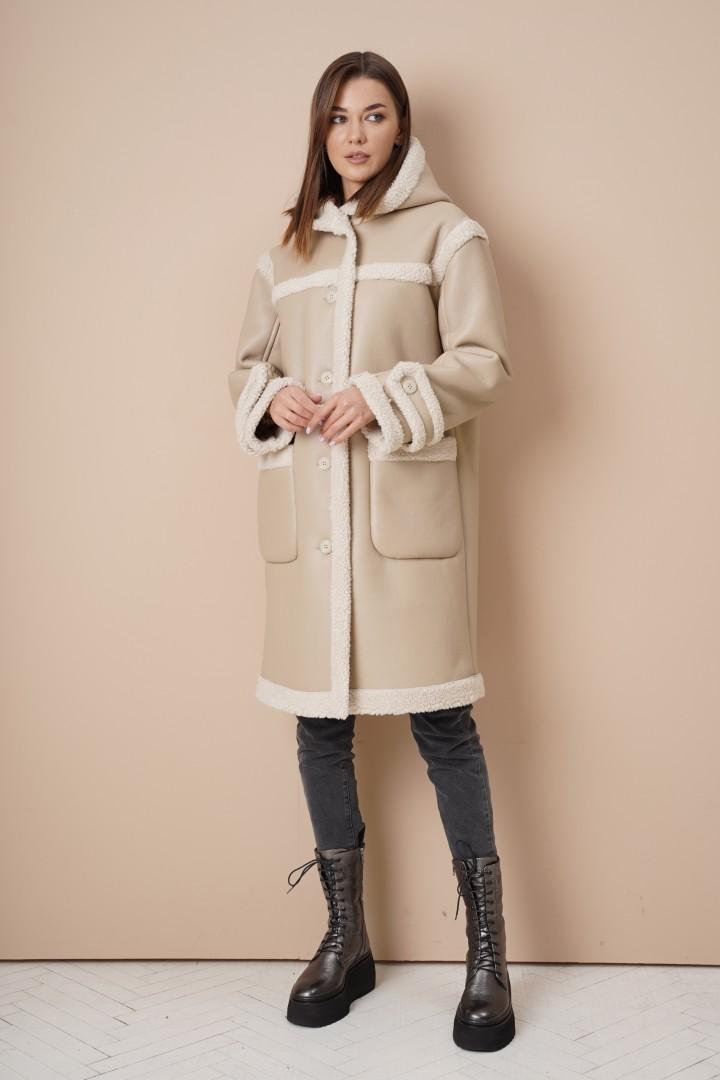 Пальто Фантазия Мод 4062 бежевый