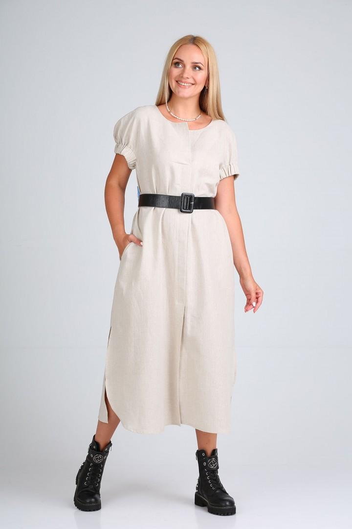 Платье FloVia 4097 бежевый