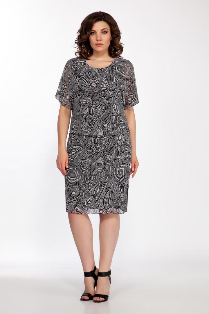 Платье Foxy Fox 1588 черная зебра