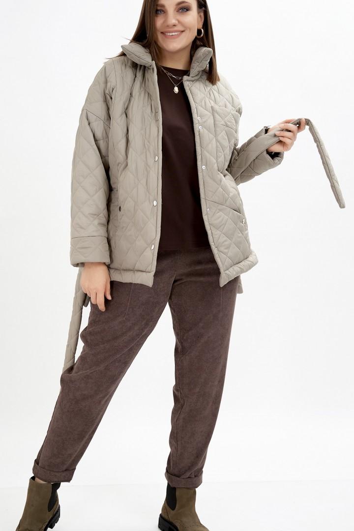 Куртка GRATTO 7112 светло-серый с зеленым оттенком