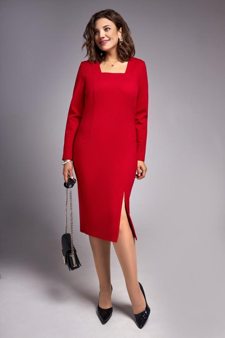 Платье Ива 1319 красный