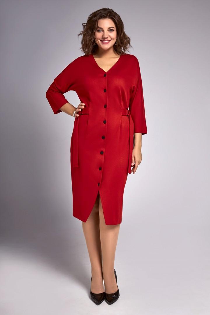 Платье Ива 1320 красный