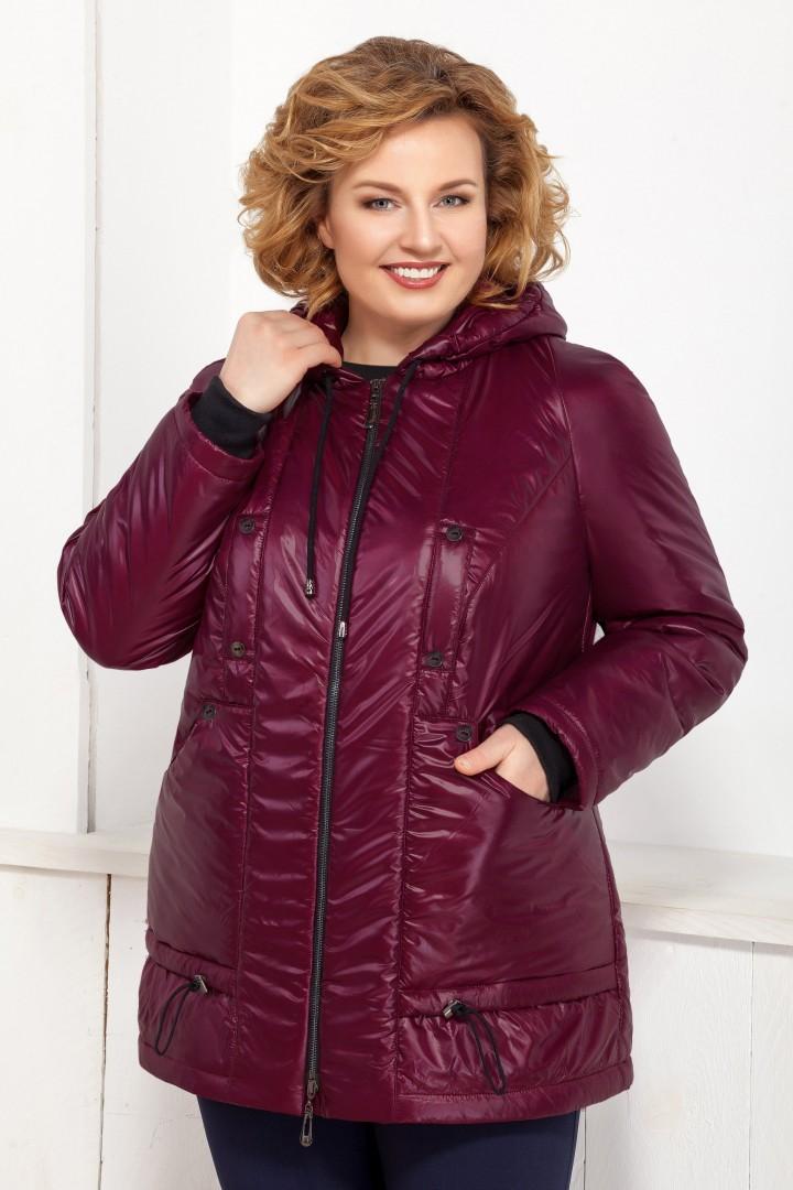Куртка Ивелта плюс ИВ-873 темно-бордовый