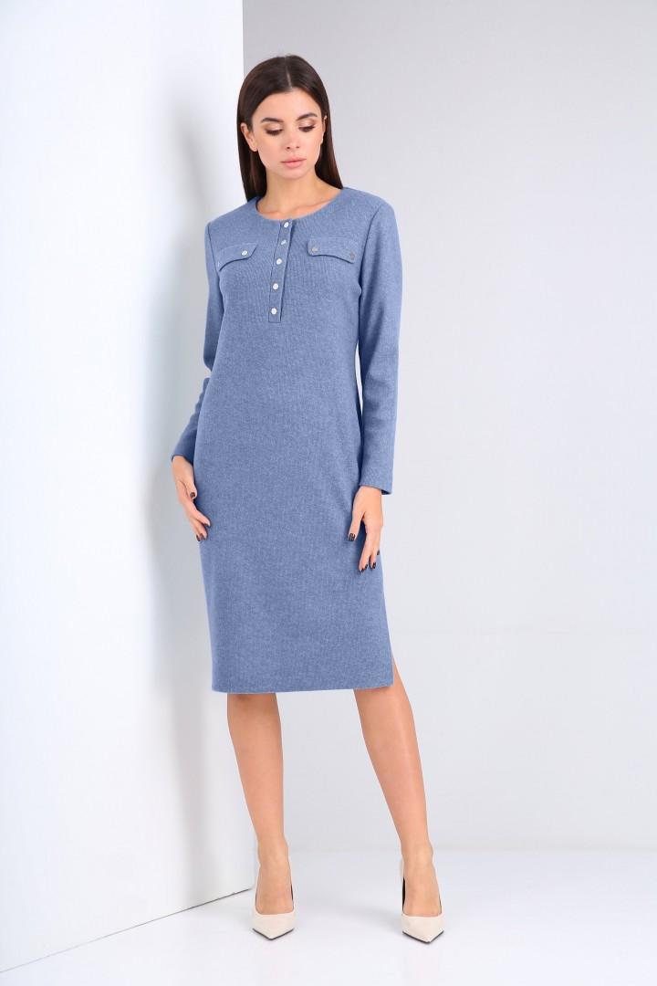 Платье Карина Делюкс М-9941А голубой
