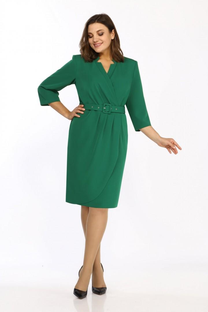 Платье Карина Делюкс М-9950 изумрудный