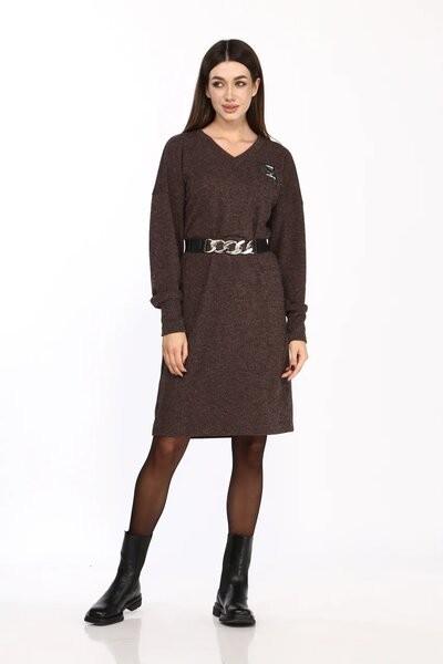 Платье Карина Делюкс М-9955 горький шоколад