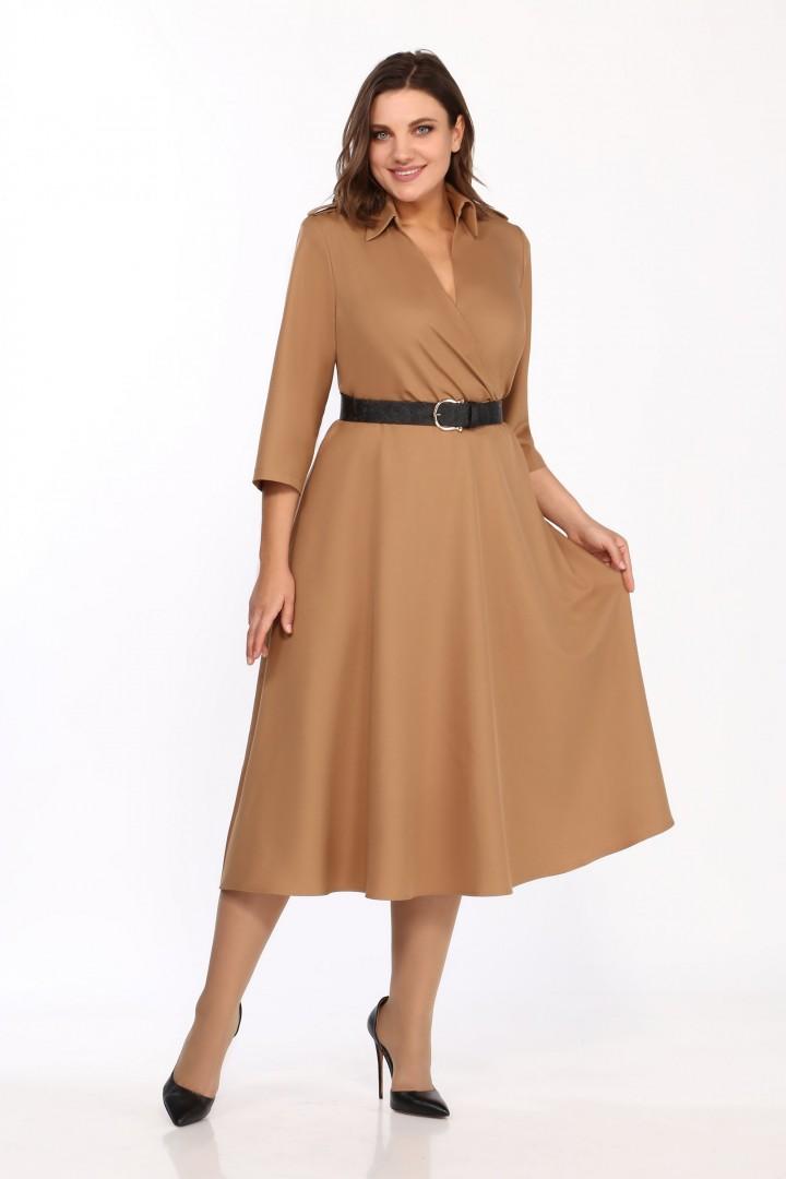 Платье Карина Делюкс М-9957 кэмел