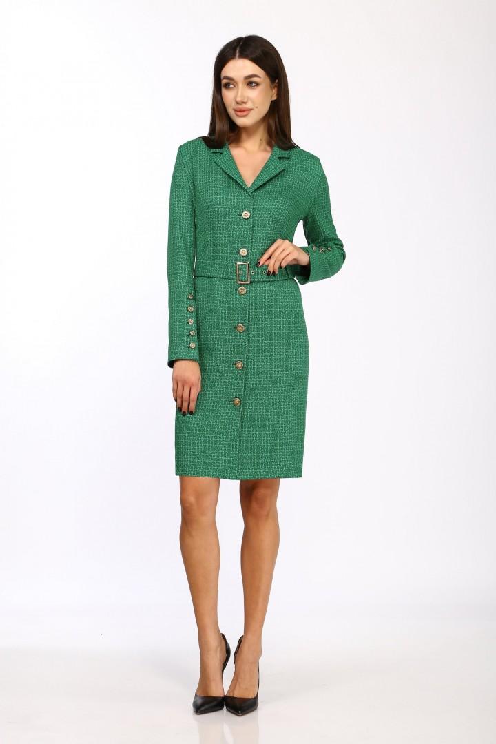 Платье Карина Делюкс М-9958 зеленый