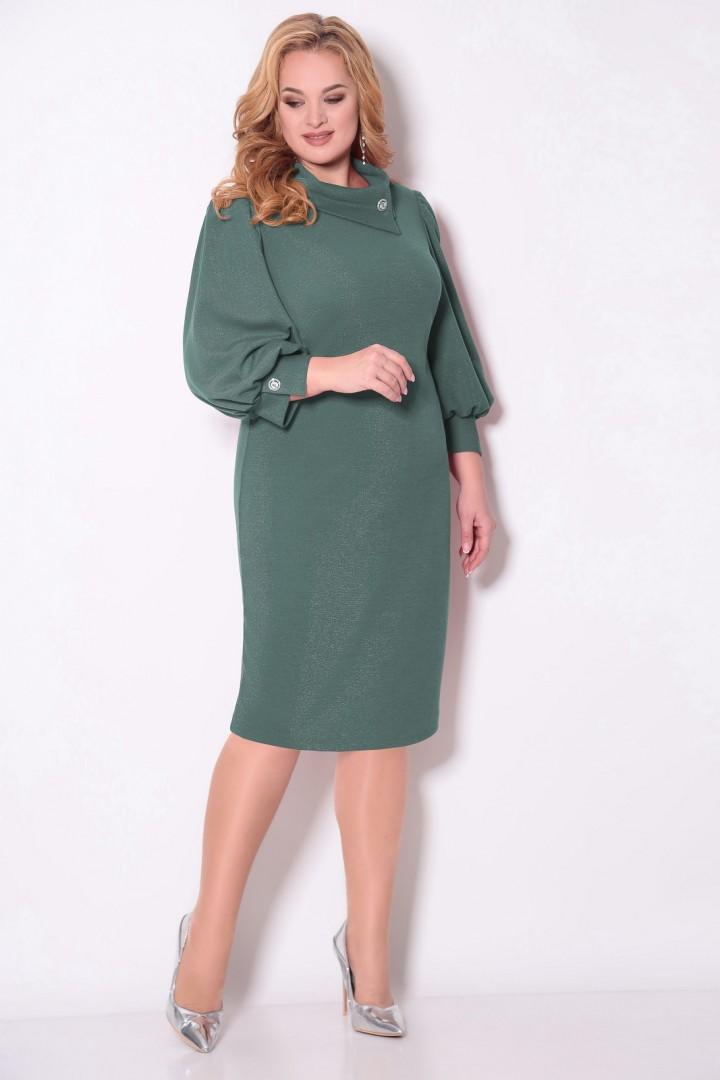 Платье Кокетка и К 894 олива