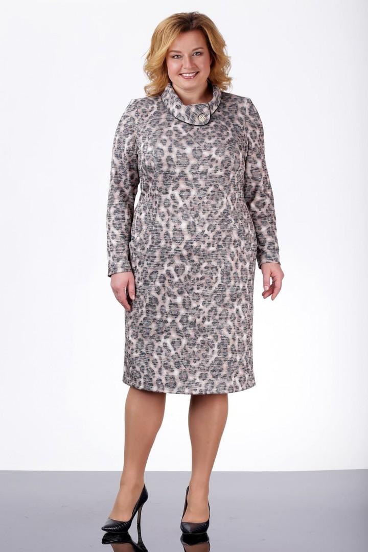 Платье ЛадисЛайн 1002 леопард