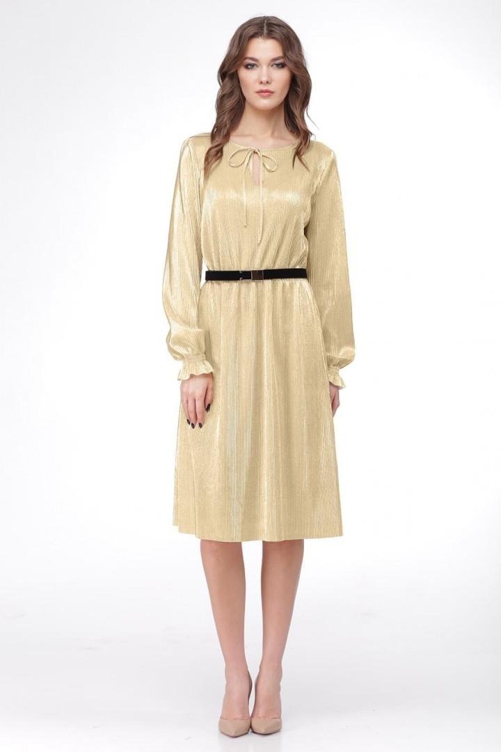 Платье ЛадисЛайн 1011 золотой