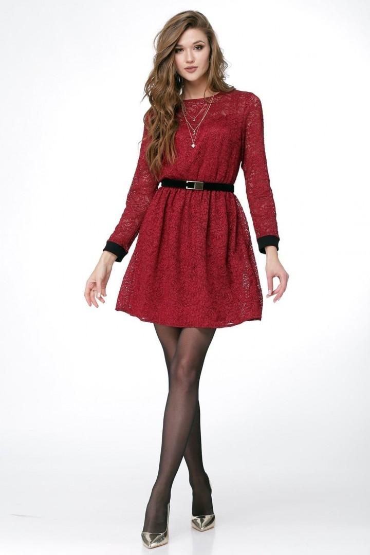 Платье ЛадисЛайн 1015 бордовый