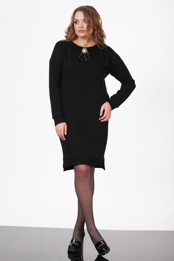 Платье ЛадисЛайн 1019 черный