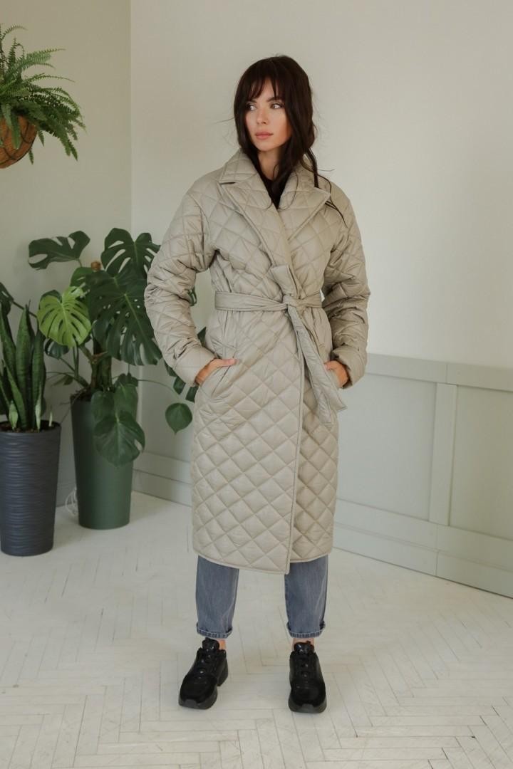 Пальто ЛадисЛайн 1374 светло-серый