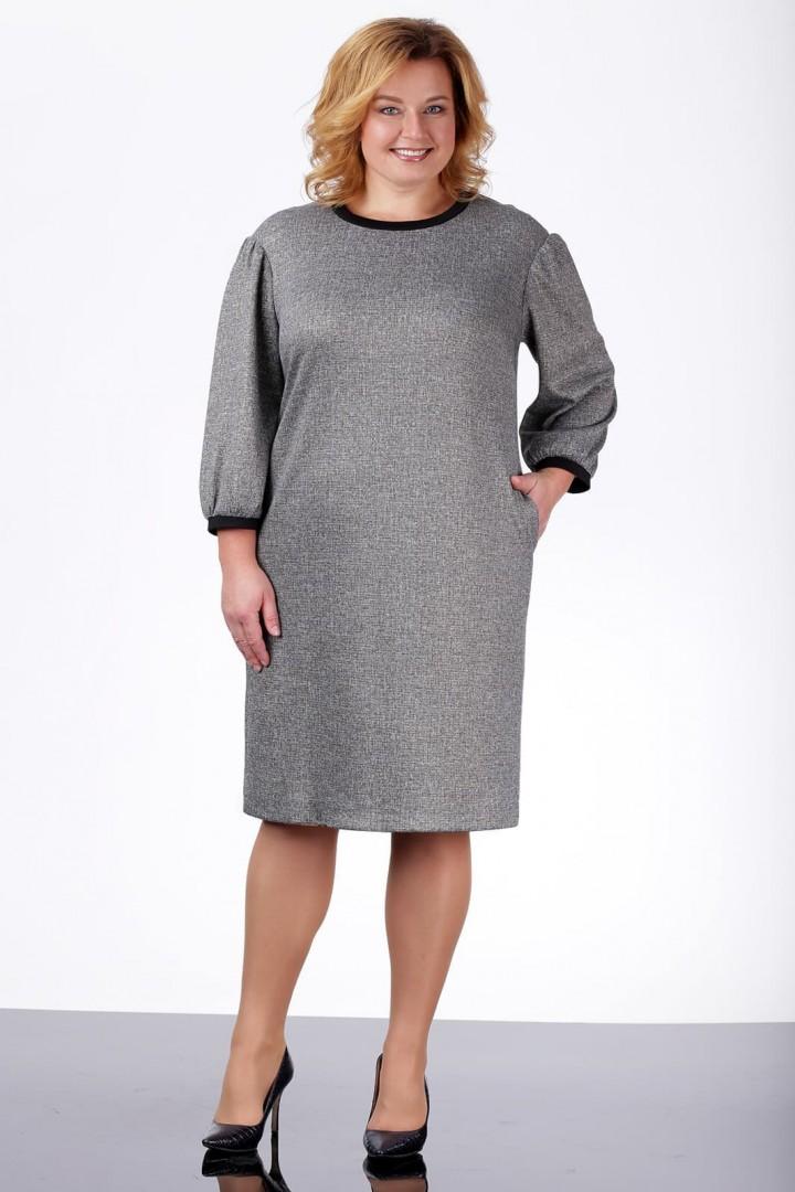 Платье ЛадисЛайн 977 серый