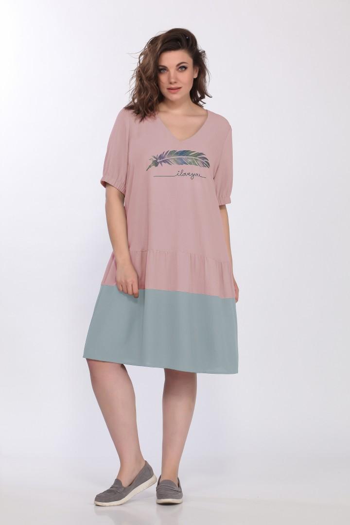 Платье LadySecret 3677  розовый, голубой