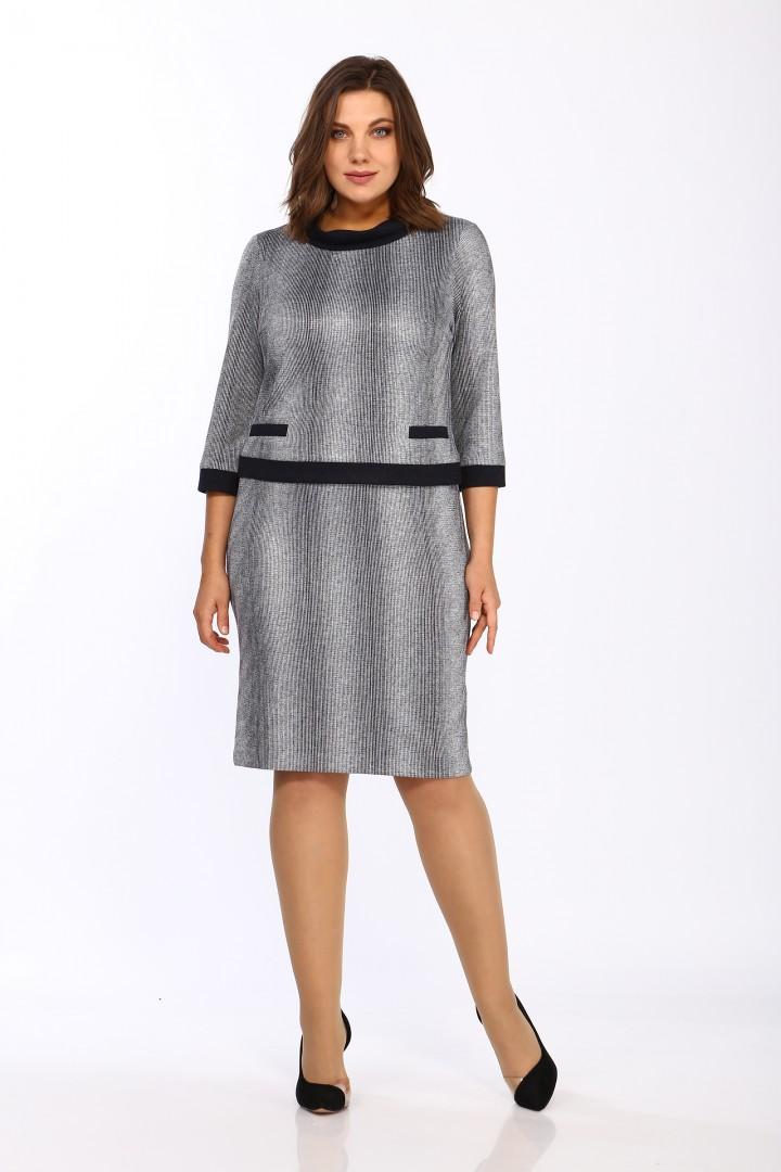 Платье LadyStyleClassic 1505/1 Серый с черным