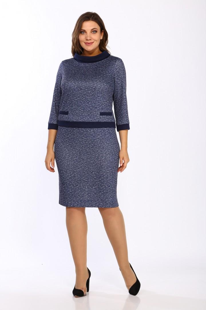 Платье LadyStyleClassic 1505/2 синие тона