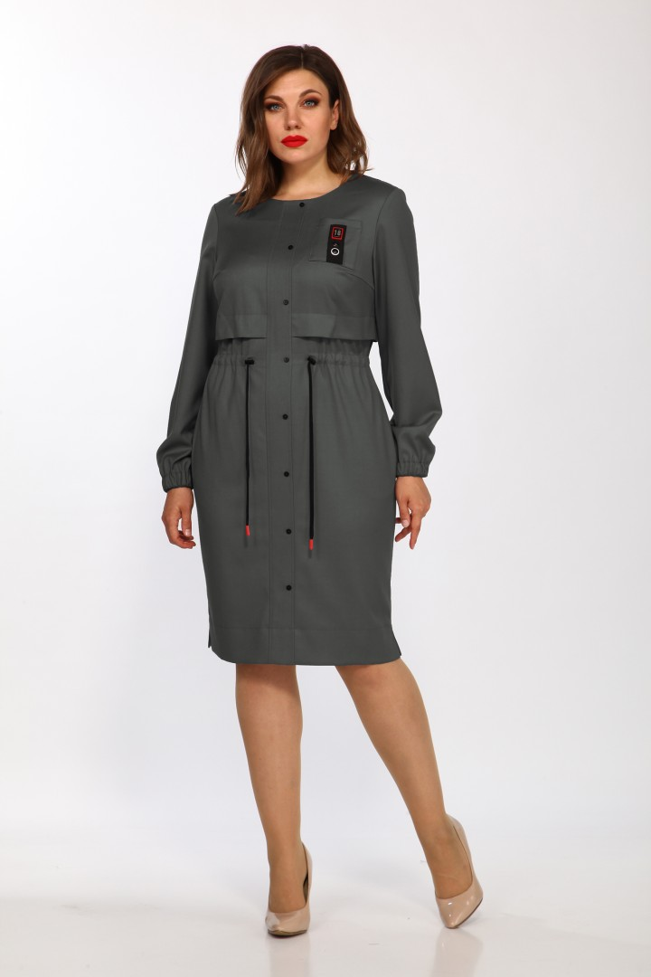 Платье LadyStyleClassic 2349/1 серый