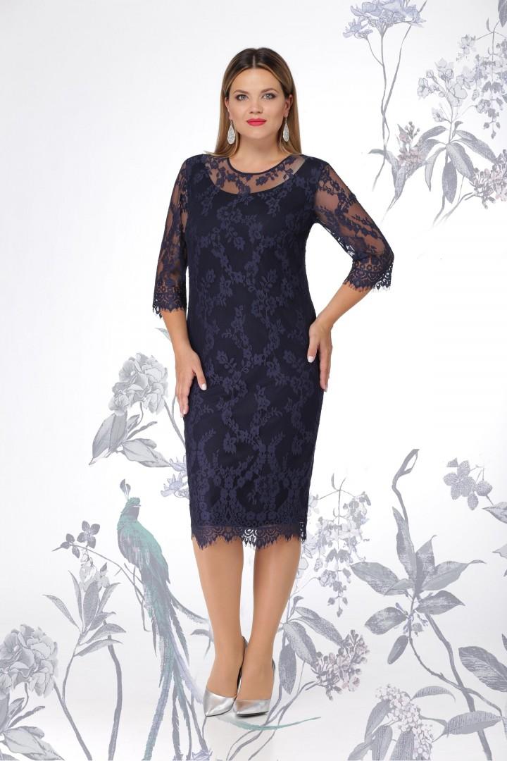 Платье LeNata 11907-тёмно-синий