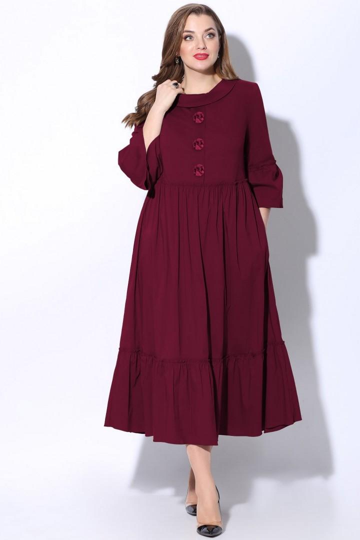 Платье LeNata 12071 спелая вишня