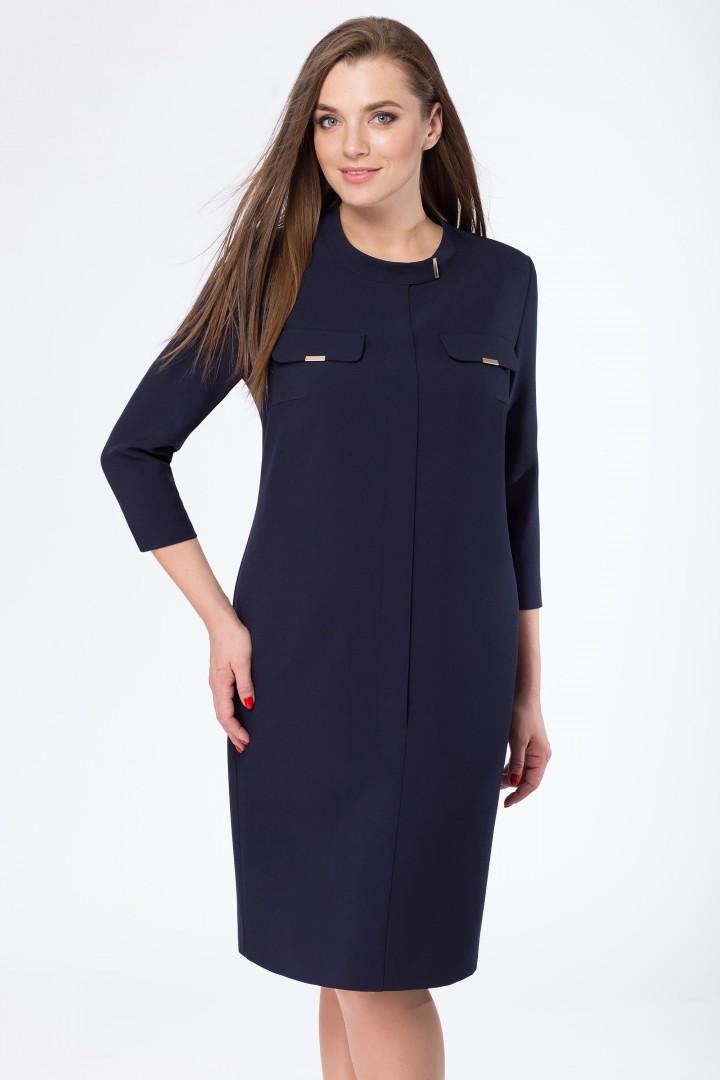Платье Линия Л 1664 темно-синий
