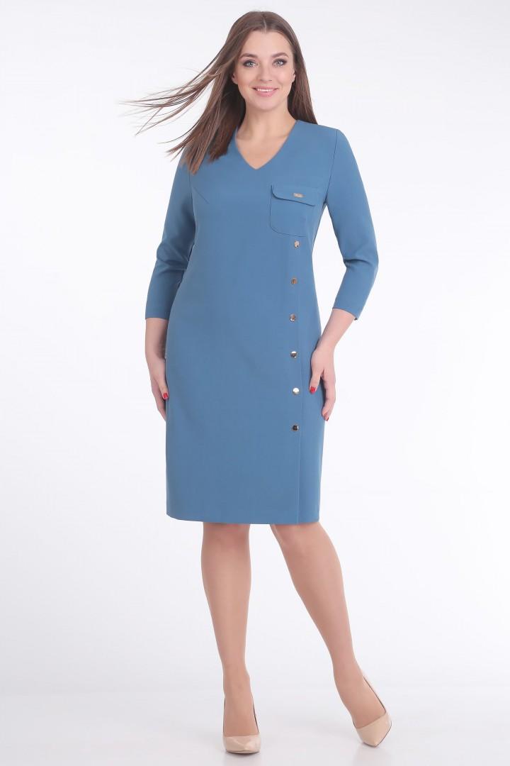 Платье Линия Л 1671 тёмно-голубой