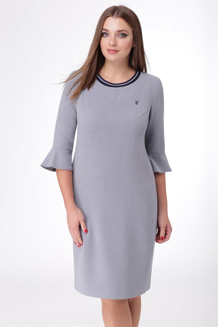 Платье Линия Л 1673 серый