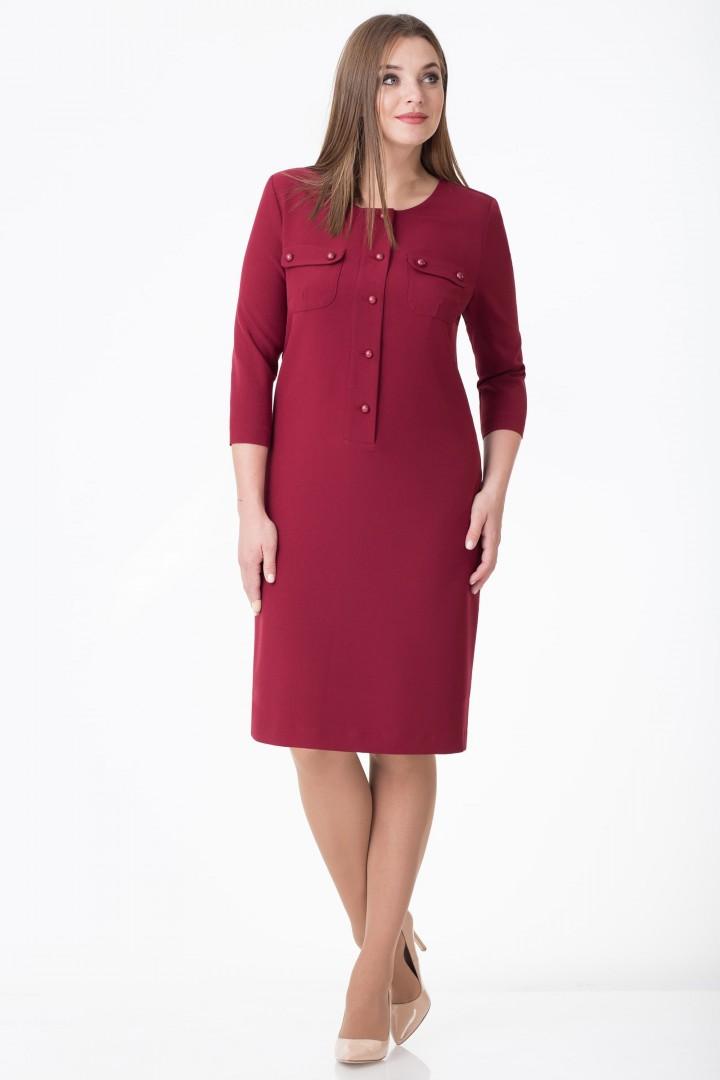 Платье Линия Л 1678 бордовый