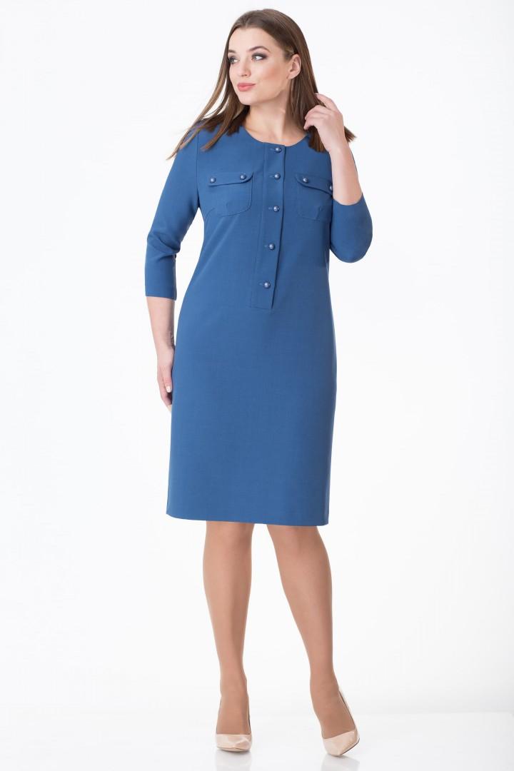 Платье Линия Л 1678 синий