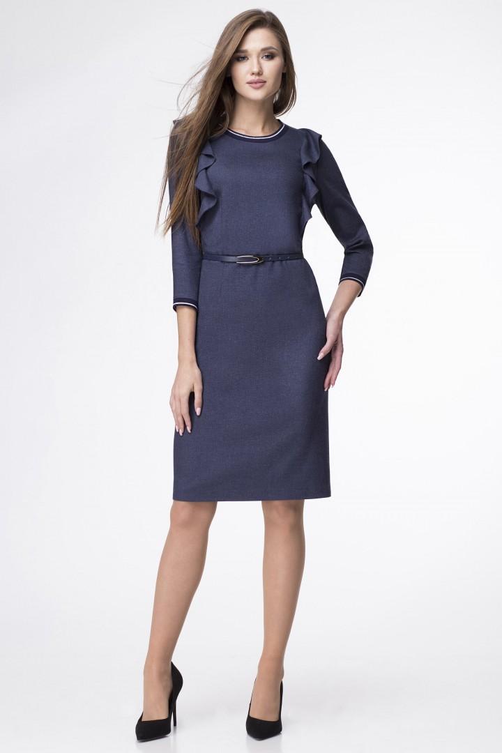 Платье Линия Л 1682 темно-синий