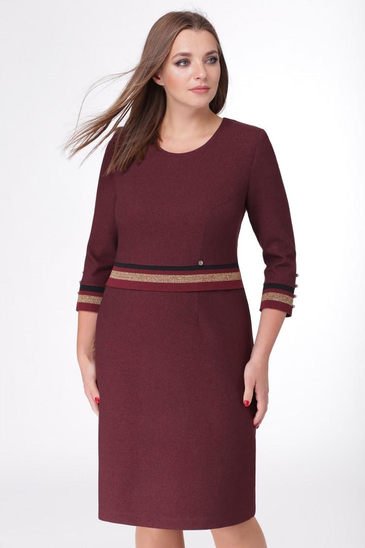 Платье Линия Л 1684 бордовый