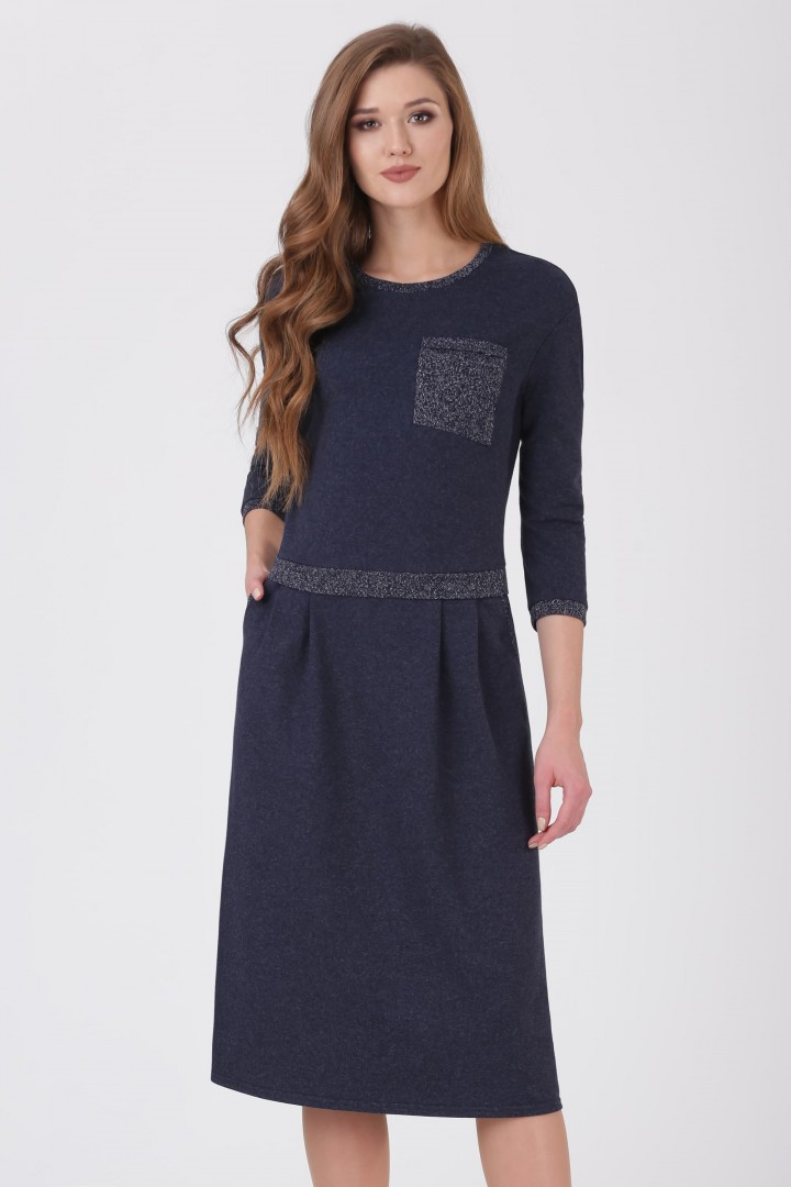 Платье Линия Л 1692 тёмно-синий