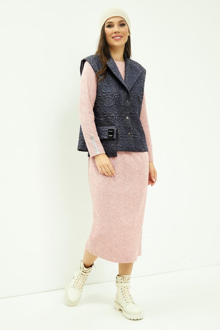 Костюм Магия Моды 2012 розовый+ сине-серый