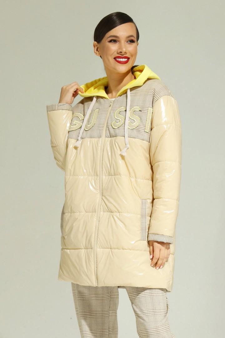 Куртка Магия Моды 2013 светлый беж+клетка